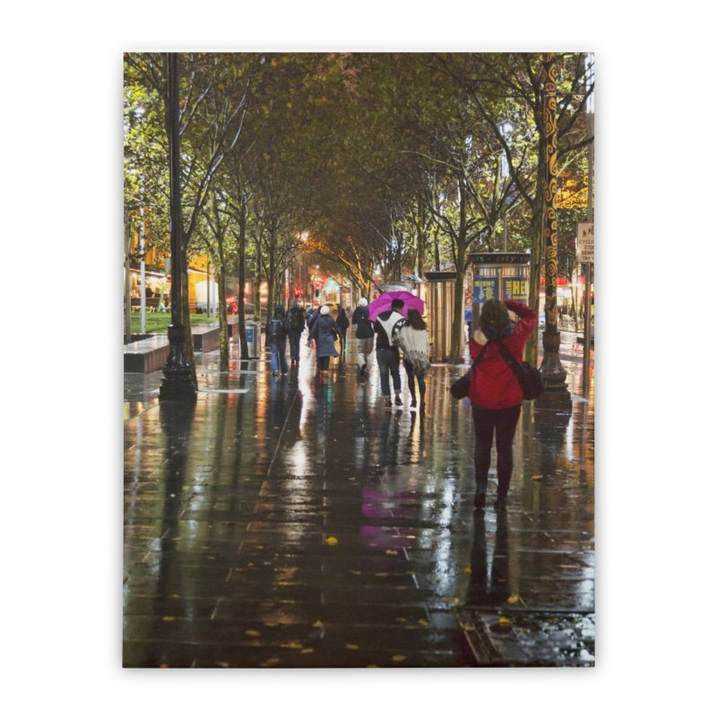 Beautiful Wet Night in the City Home Stretched Canvas by Mrc's Artist Shop