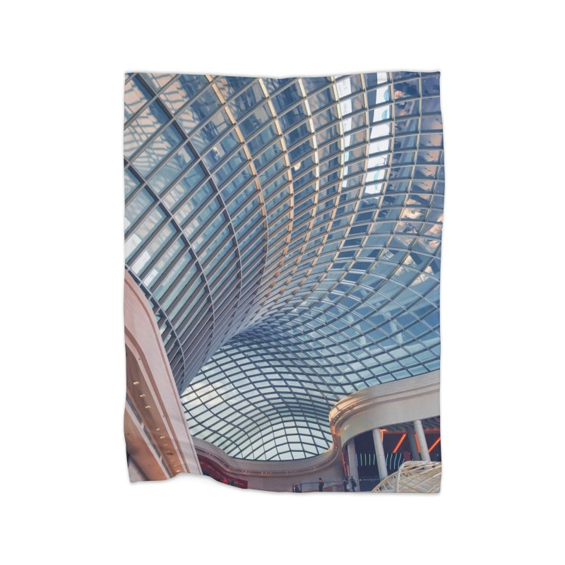 Abstract Architecture Roof Home Fleece Blanket Blanket by Mrc's Artist Shop