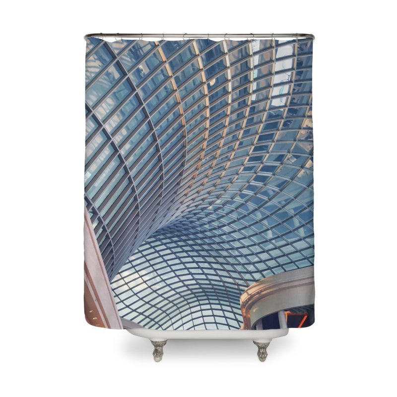 Abstract Architecture Roof Home Shower Curtain by Mrc's Artist Shop