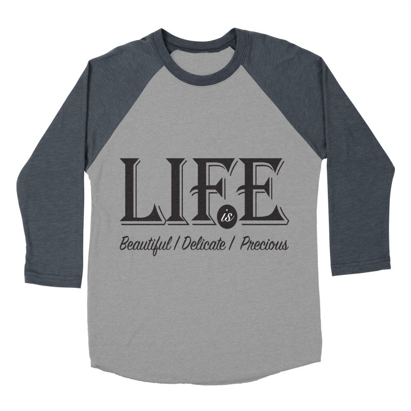 Life Men's Baseball Triblend Longsleeve T-Shirt by Mrc's Artist Shop