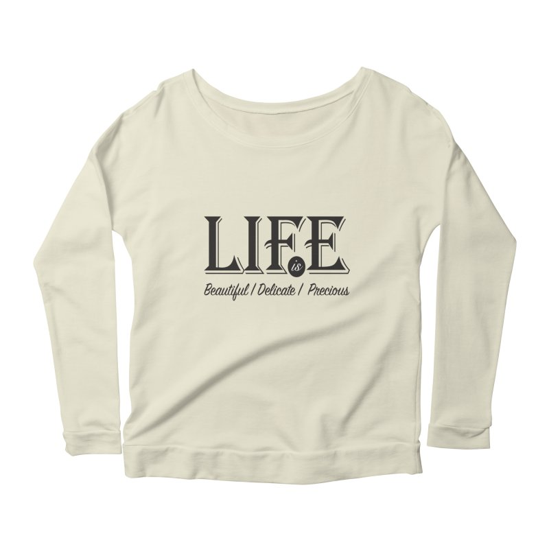 Life Women's Scoop Neck Longsleeve T-Shirt by Mrc's Artist Shop