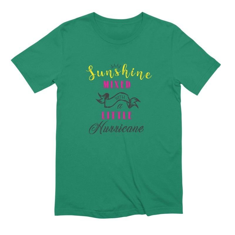 Sunshine Mixed with a Little Hurricane Men's T-Shirt by Mrc's Artist Shop