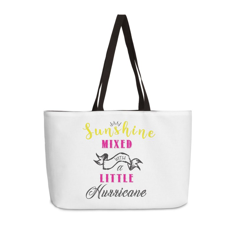 Sunshine Mixed with a Little Hurricane Accessories Weekender Bag Bag by Mrc's Artist Shop