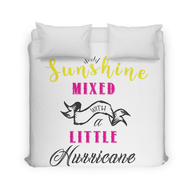 Sunshine Mixed with a Little Hurricane Home Duvet by Mrc's Artist Shop