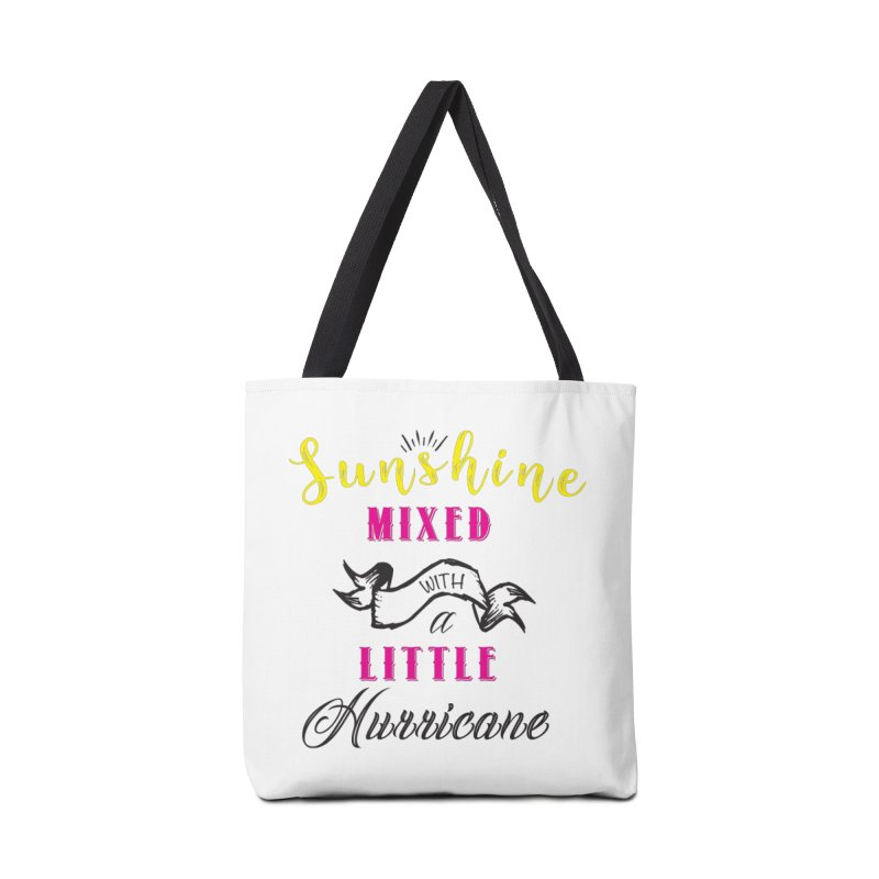 Sunshine Mixed with a Little Hurricane Accessories Bag by Mrc's Artist Shop