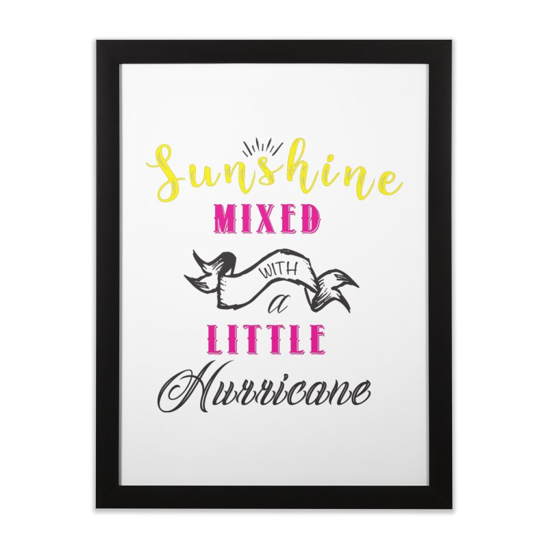 Sunshine Mixed with a Little Hurricane in Framed Fine Art Print Black by Mrc's Artist Shop