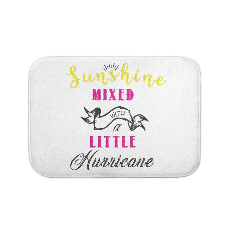 Sunshine Mixed with a Little Hurricane Home Bath Mat by Mrc's Artist Shop