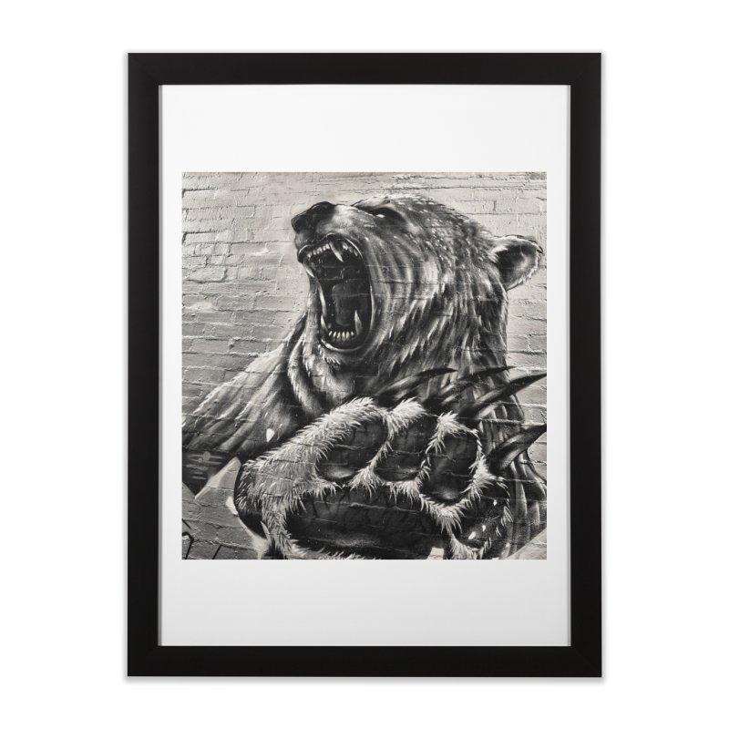 Bear  Home Framed Fine Art Print by Mrc's Artist Shop