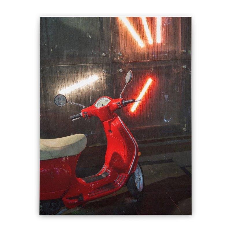 Wet Red Bike   by Mrc's Artist Shop