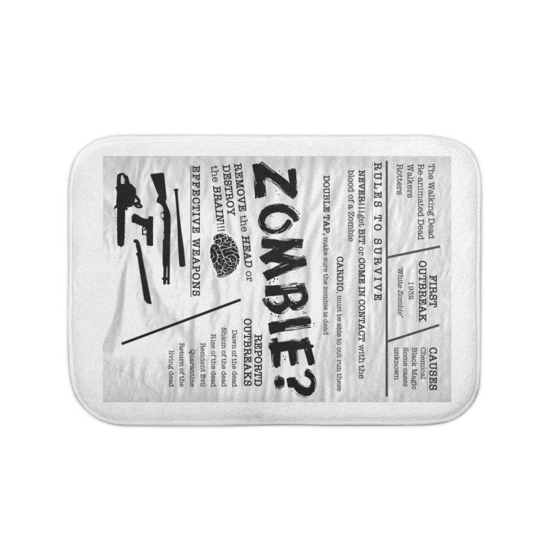 Zombie? Home Bath Mat by Mrc's Artist Shop