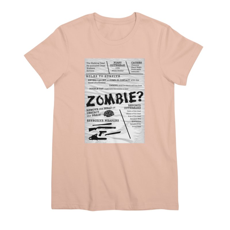 Zombie? Women's Premium T-Shirt by Mrc's Artist Shop