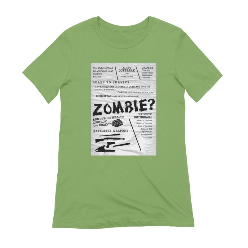 Zombie? Women's Extra Soft T-Shirt by Mrc's Artist Shop