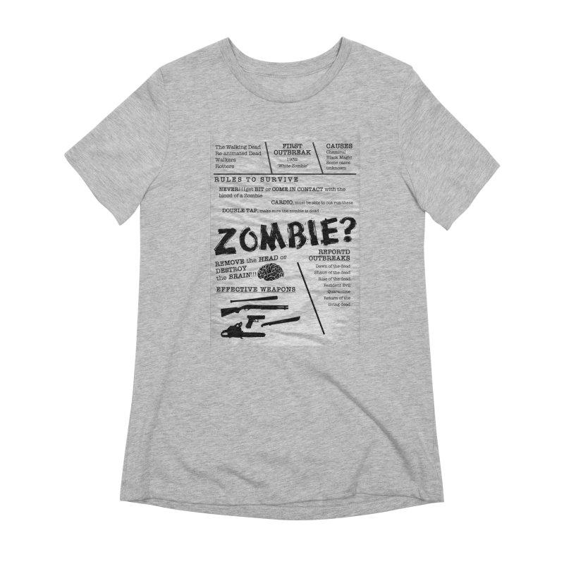 Zombie? Women's Extra Soft T-Shirt by Mrc's Artist Shop