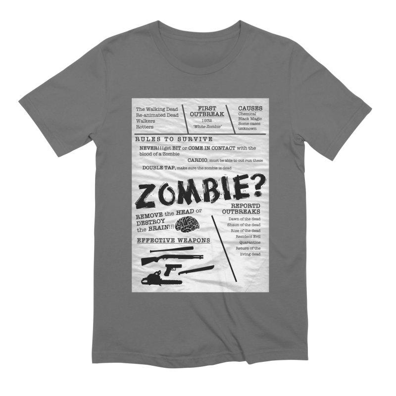 Zombie? Men's T-Shirt by Mrc's Artist Shop