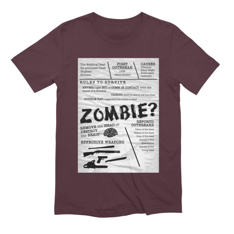 Zombie? Men's Extra Soft T-Shirt by Mrc's Artist Shop