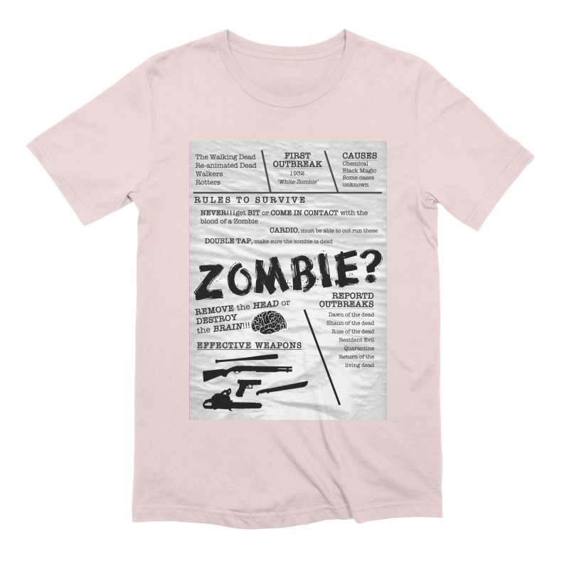 Zombie? Men's Extra Soft T-Shirt by Mrc's Artist Shop