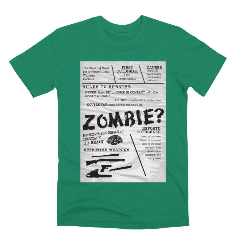 Zombie? Men's Premium T-Shirt by Mrc's Artist Shop