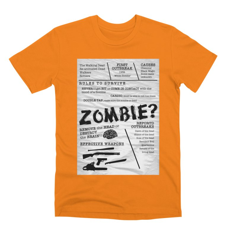 Zombie? Men's T-Shirt by Mrc's Artist Shop