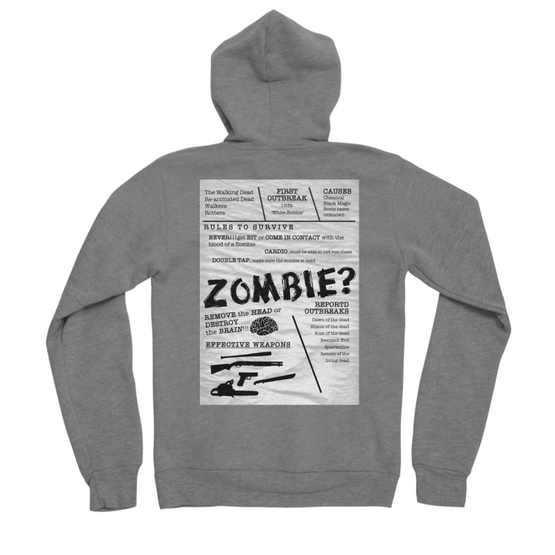 Zombie? Men's Sponge Fleece Zip-Up Hoody by Mrc's Artist Shop