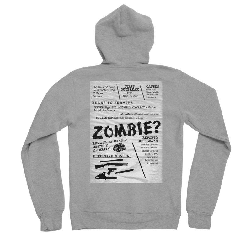 Zombie? Men's Sponge Fleece Zip-Up Hoody by Mrc's Artist Shop