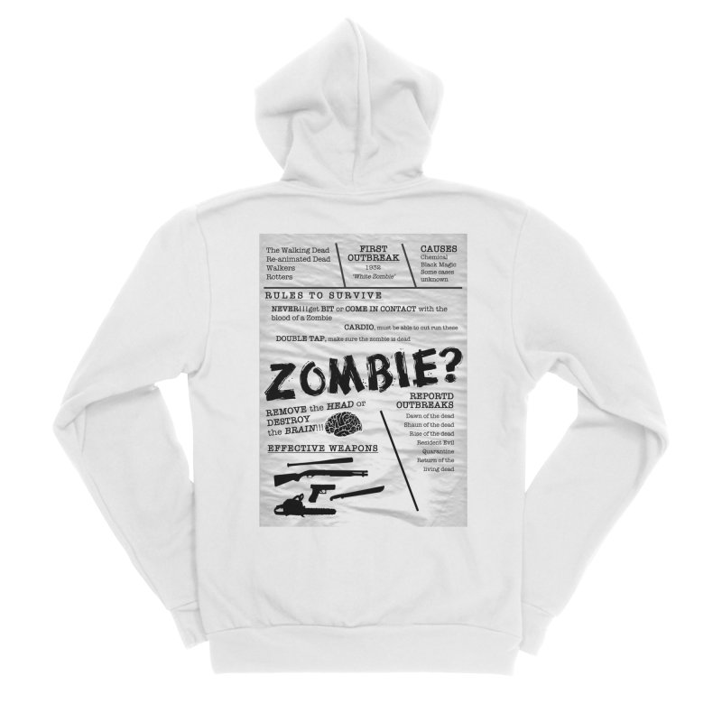 Zombie? Women's Sponge Fleece Zip-Up Hoody by Mrc's Artist Shop