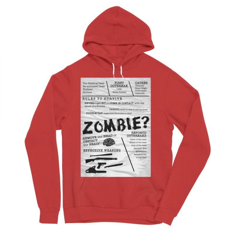 Zombie? Men's Sponge Fleece Pullover Hoody by Mrc's Artist Shop