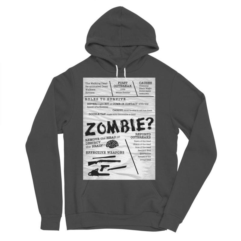 Zombie? Men's Sponge Fleece Pullover Hoody by Mrc's Artist Shop