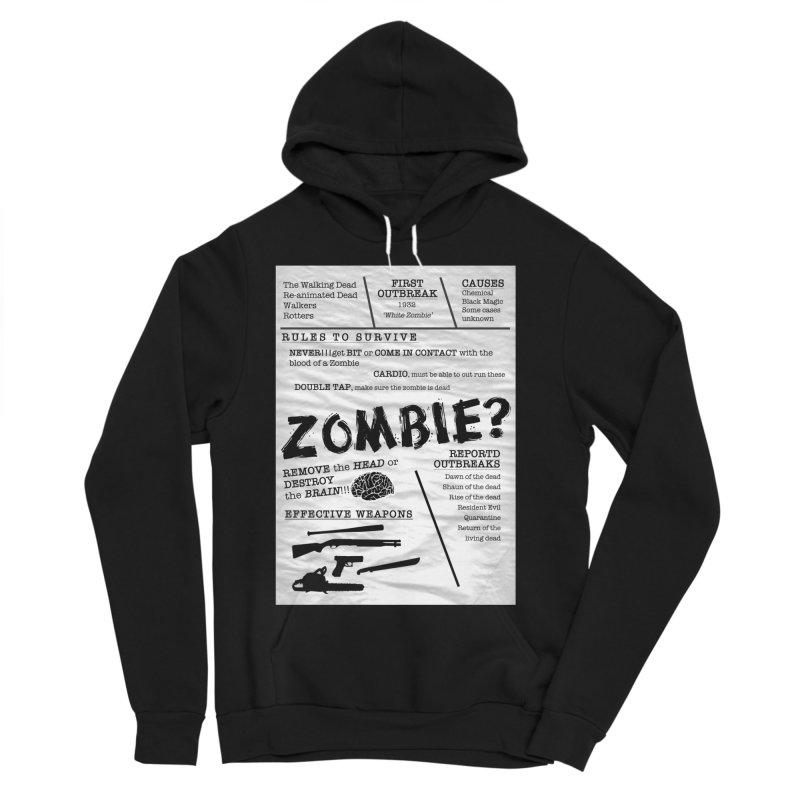 Zombie? Women's Sponge Fleece Pullover Hoody by Mrc's Artist Shop