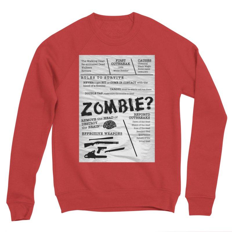 Zombie? Women's Sponge Fleece Sweatshirt by Mrc's Artist Shop