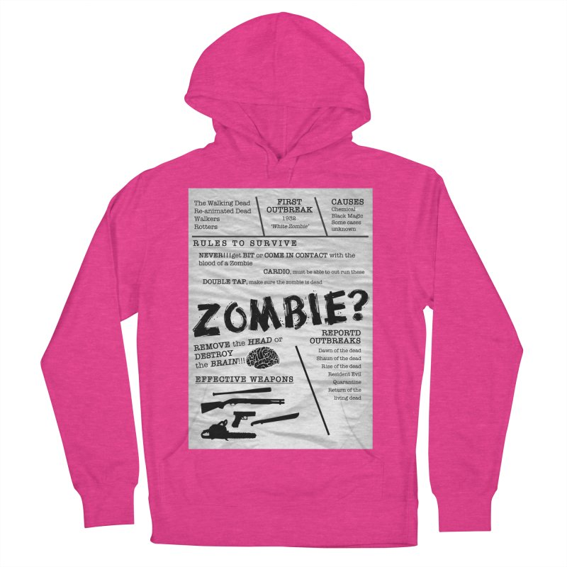 Zombie? Women's French Terry Pullover Hoody by Mrc's Artist Shop