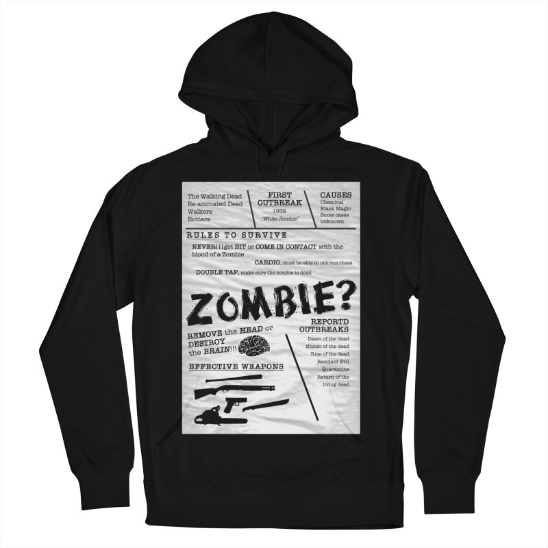 Zombie? Men's French Terry Pullover Hoody by Mrc's Artist Shop