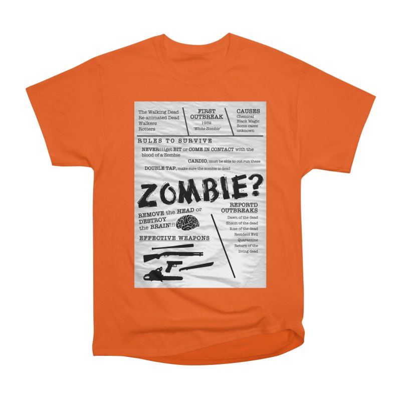 Zombie? Men's Heavyweight T-Shirt by Mrc's Artist Shop