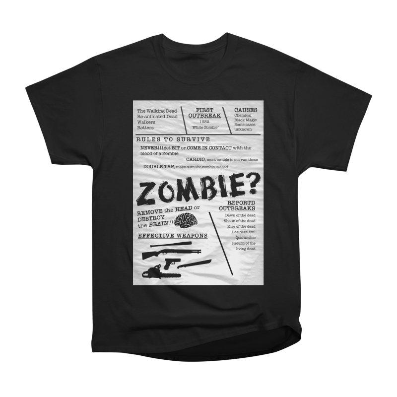 Zombie? Women's Heavyweight Unisex T-Shirt by Mrc's Artist Shop