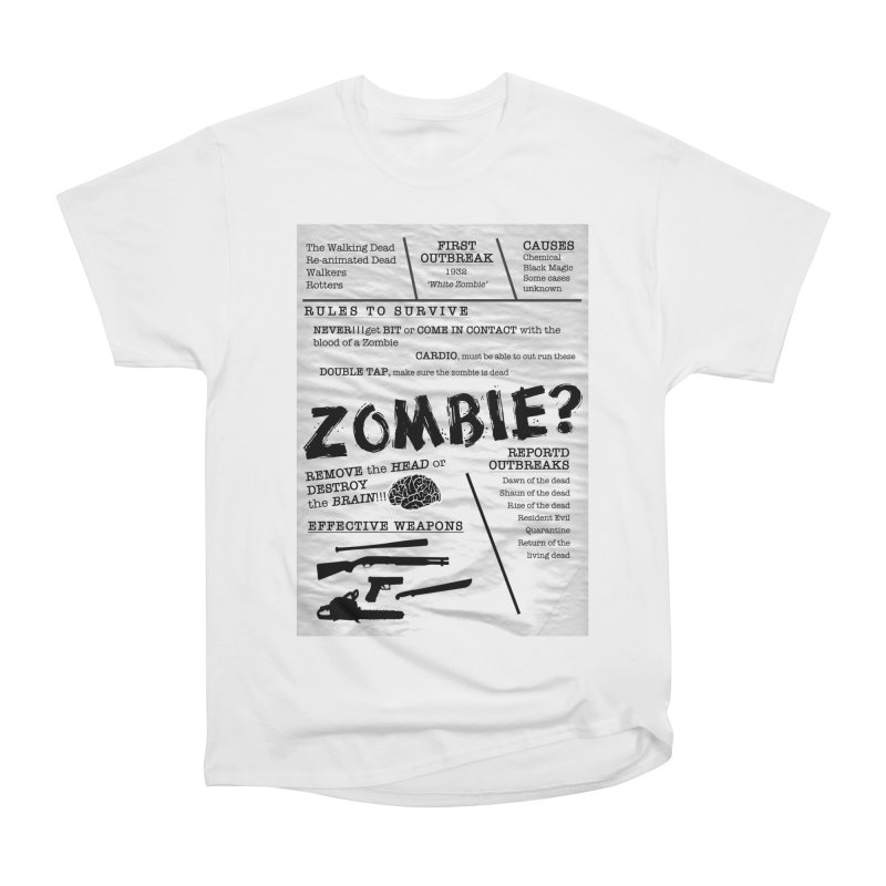 Zombie? Women's Heavyweight Unisex T-Shirt by Mrc's Artist Shop