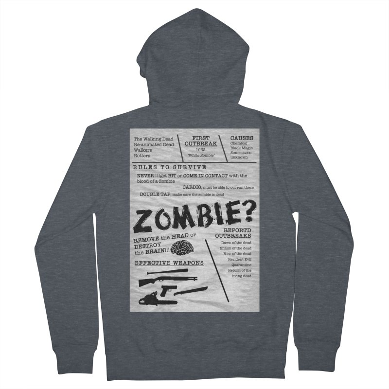 Zombie? Women's French Terry Zip-Up Hoody by Mrc's Artist Shop