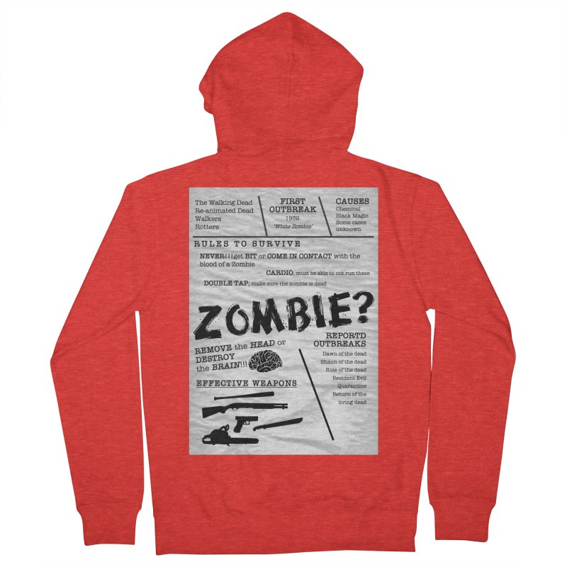 Zombie? Women's Zip-Up Hoody by Mrc's Artist Shop