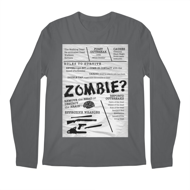 Zombie? Men's Regular Longsleeve T-Shirt by Mrc's Artist Shop