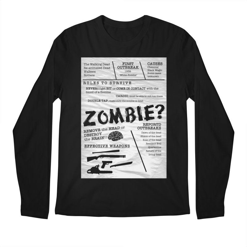 Zombie? Men's Regular Longsleeve T-Shirt by Mrc's Artist Shop