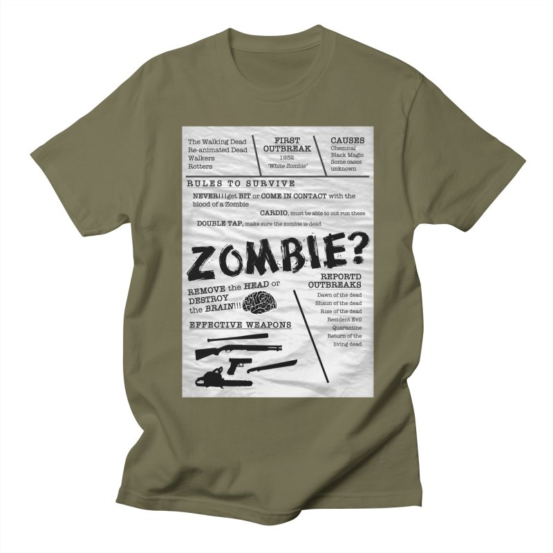 Zombie? Women's Regular Unisex T-Shirt by Mrc's Artist Shop