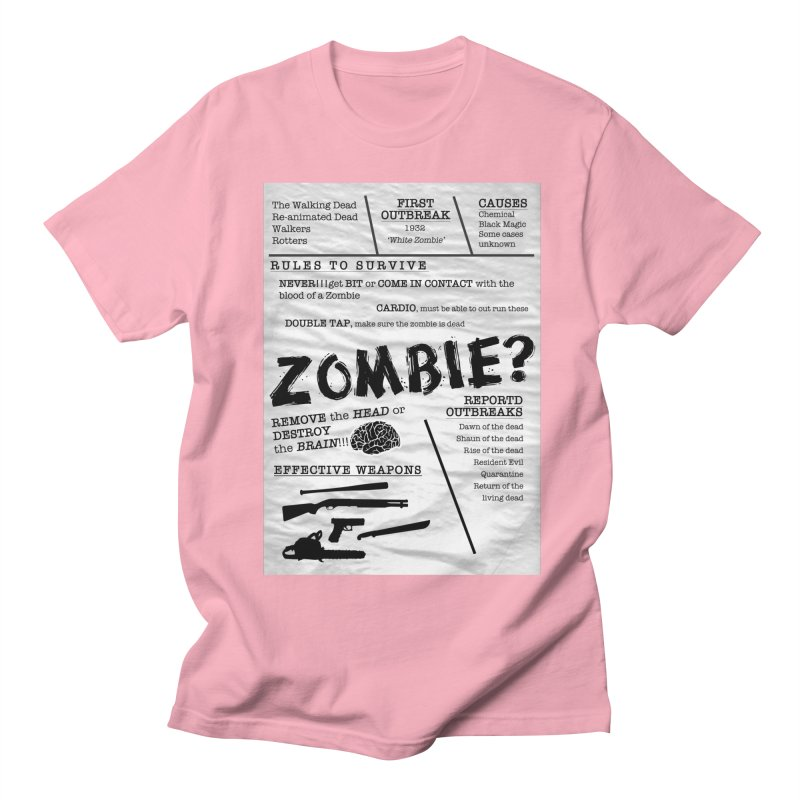 Zombie? Women's Regular Unisex T-Shirt by Mrc's Artist Shop