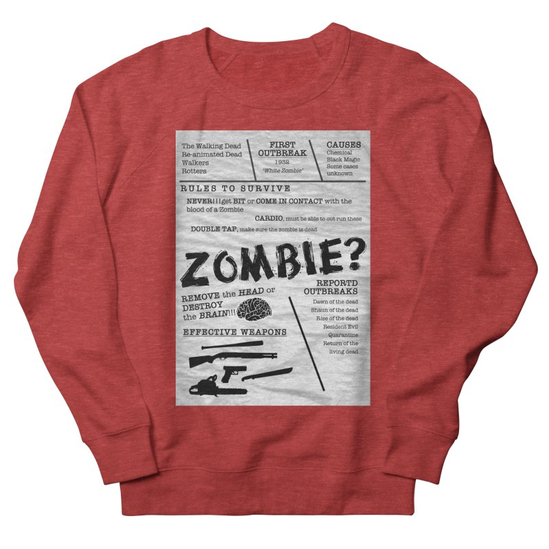 Zombie? Women's French Terry Sweatshirt by Mrc's Artist Shop