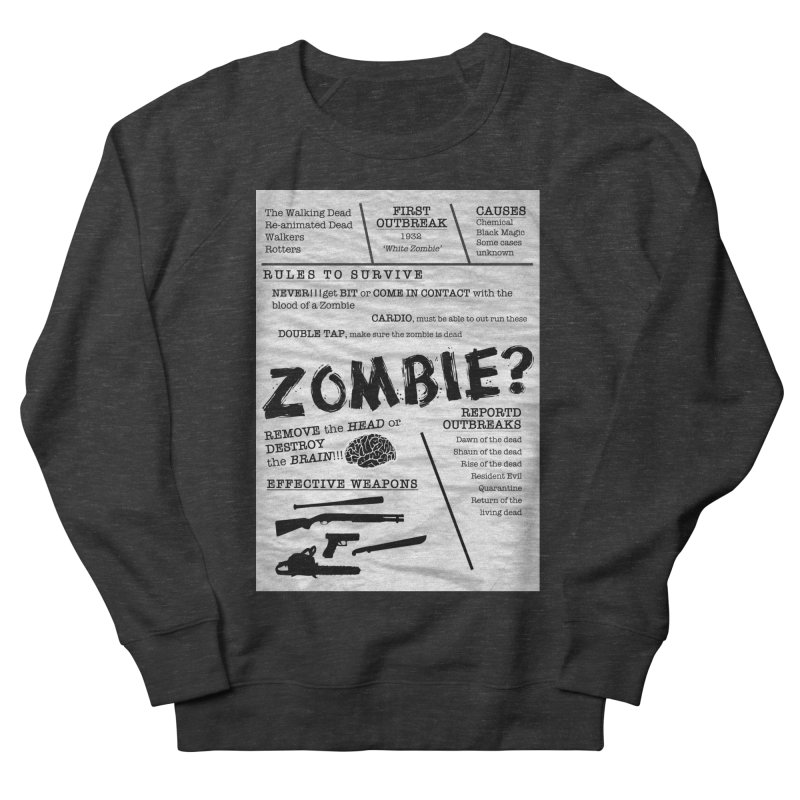 Zombie? Men's French Terry Sweatshirt by Mrc's Artist Shop
