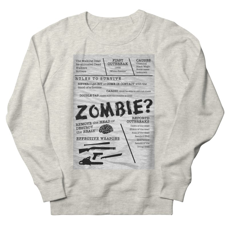 Zombie? Men's French Terry Sweatshirt by Mrc's Artist Shop