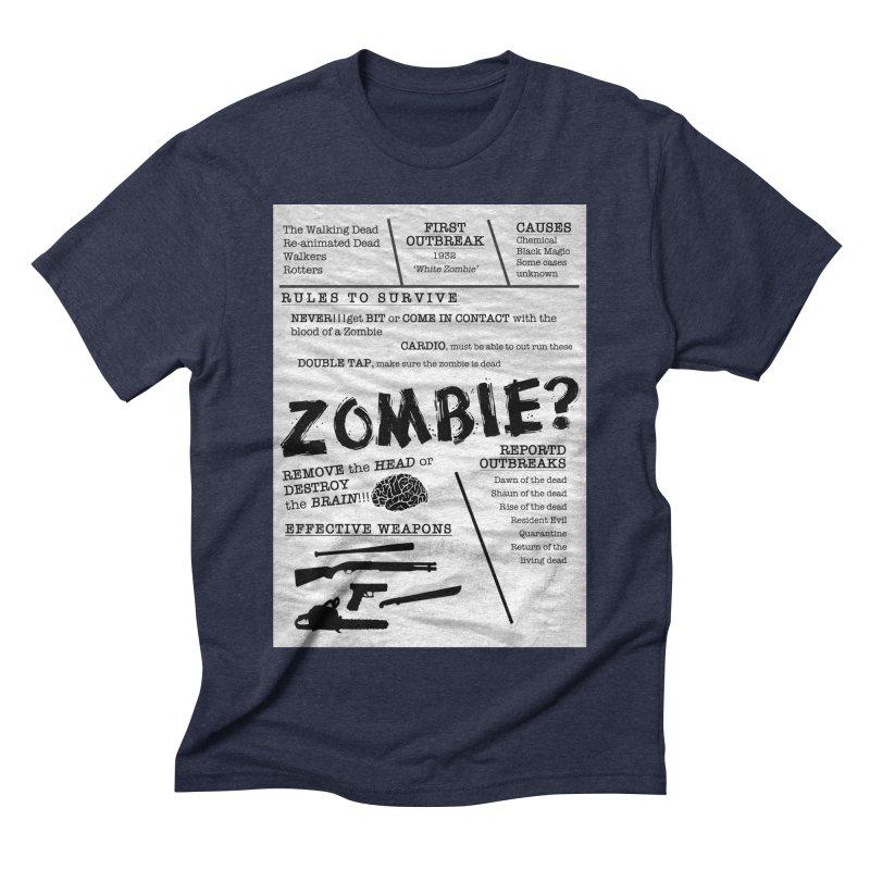 Zombie? Men's Triblend T-Shirt by Mrc's Artist Shop