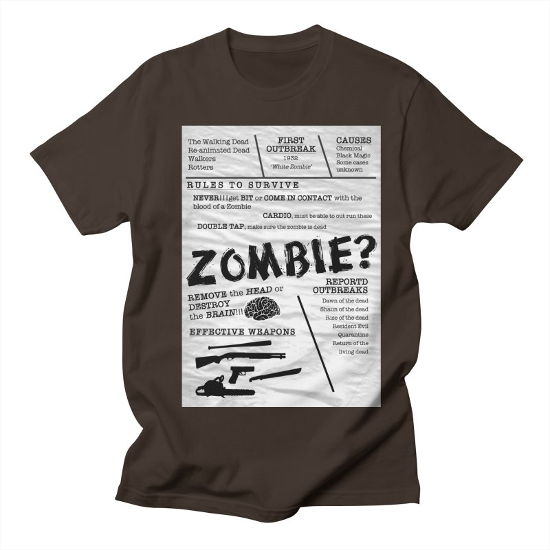 Zombie? Men's Regular T-Shirt by Mrc's Artist Shop