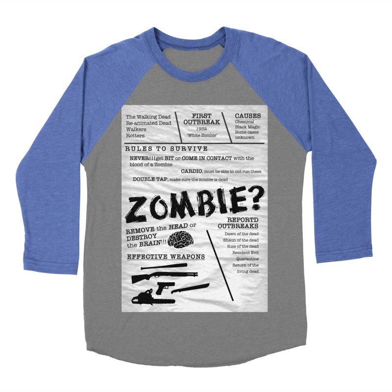Zombie? Women's Baseball Triblend Longsleeve T-Shirt by Mrc's Artist Shop
