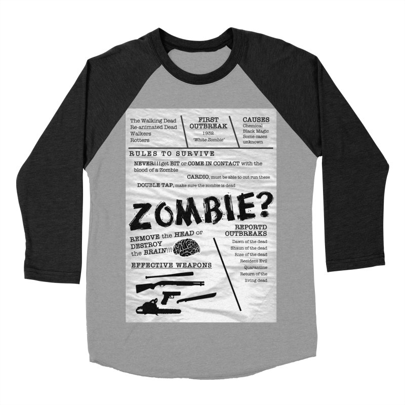 Zombie? Women's Baseball Triblend Longsleeve T-Shirt by Mrc's Artist Shop