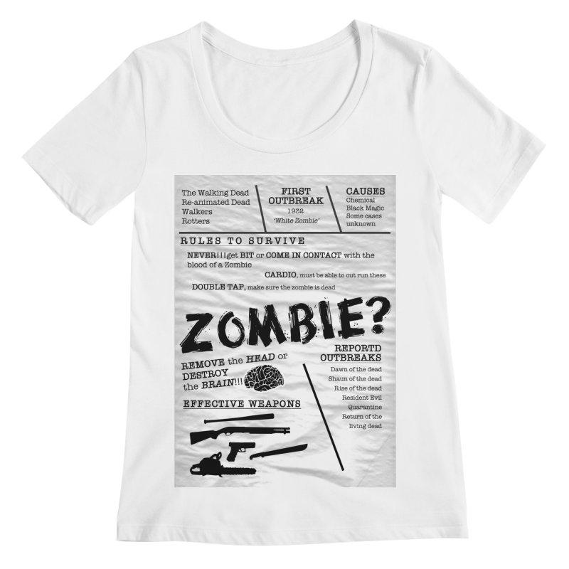 Zombie? Women's Regular Scoop Neck by Mrc's Artist Shop