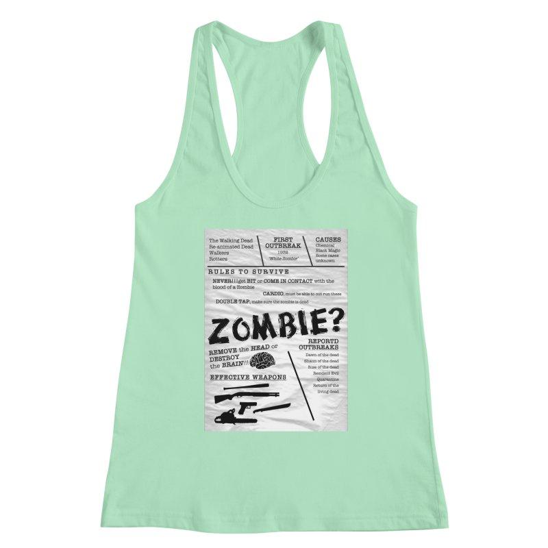 Zombie? Women's Racerback Tank by Mrc's Artist Shop