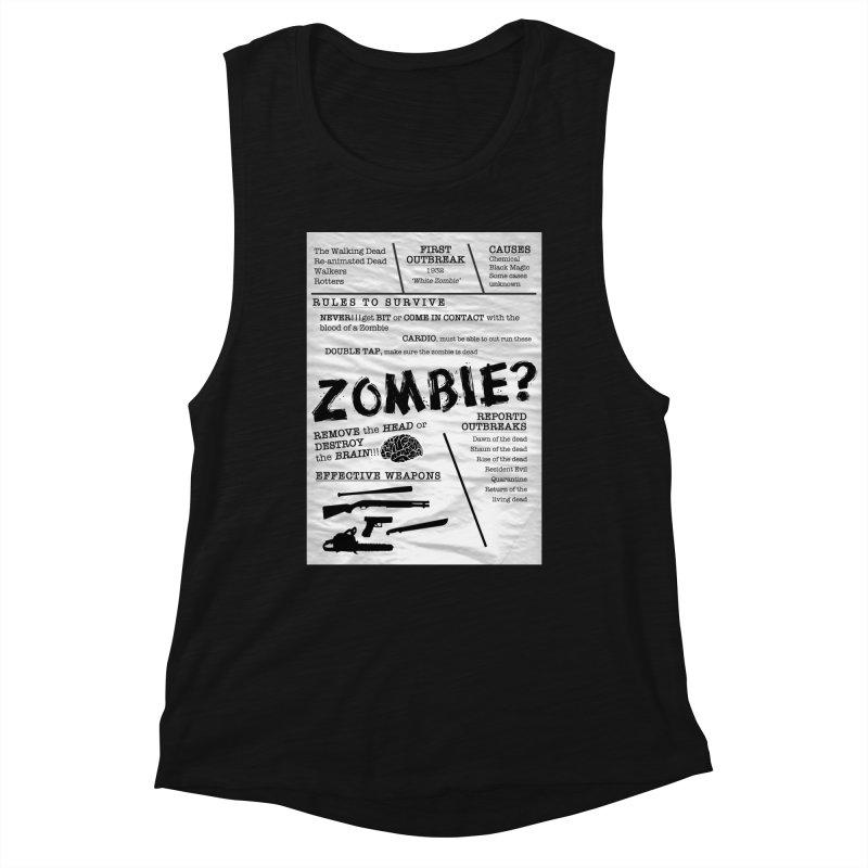 Zombie? Women's Tank by Mrc's Artist Shop